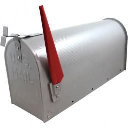 US Mailbox Silber CM-13464 Incl. Standpfosten