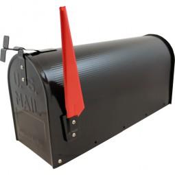 US Mailbox Schwarz CM-13465 Incl. Standpfosten