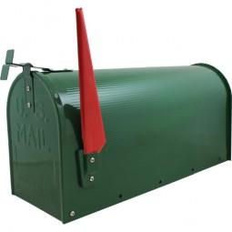 US Mailbox Grün CM-13466 Incl. Standpfosten