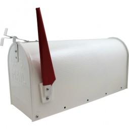 US Mailbox Weiß CM-13467 Incl. Standpfosten