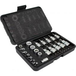 30 Teiliges Torx- und Bit stecknuss Set CM-13385