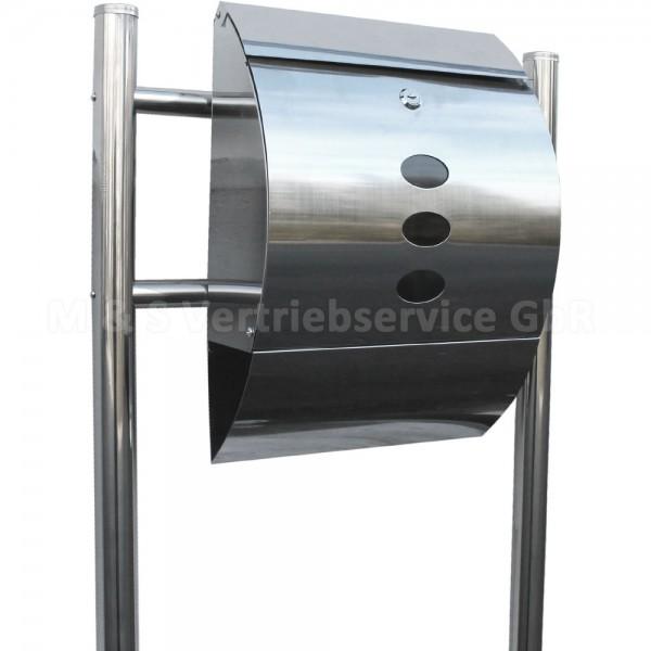 Briefkasten Stand stand briefkasten edelstahl cm 13660 mayster handel