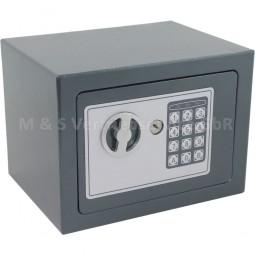 Elektronischer Mini-Tresor grau CM-11387