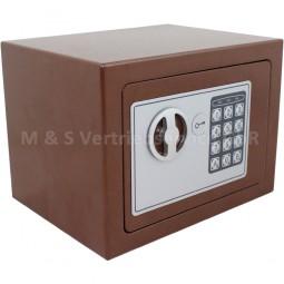 Elektronischer Mini-Tresor braun CM-13634